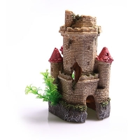 Ornament Crumbling Underwater Tower 14x12.5x22.5cm
