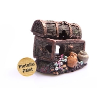 Ornament Sunken Treasure Chest Small 7.5x7x6.5cm