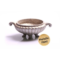 Ornament Offering Bowl 15x10x5.5cm (silver)