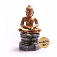 Ornament Meditating Buddha 9x8.5x17.5cm (Gold)