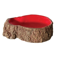 Hermit Crab Tree Stump Bowl Red Small  10x7.6x3cm