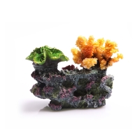 Ornament 3 Corals On Live Rock Small 21x11x16cm