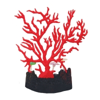 Ornament Copi Coral Red Gorgonian With Sea Lilies 17x3.4x15.5cm