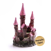 Ruined Underwater Castle Small 8x7.5x13.5cm (Pink)