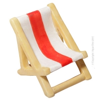 Ornament Beach Lounge chair Red 5.5x4.3x4.8cm