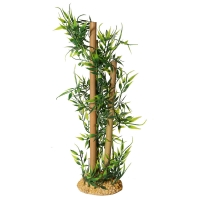 Ornament Tall Bamboo With Leaves 9x9x31cm