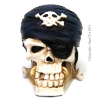 Ornament Pirate Scull W/Bandana 7x5.5x7cm