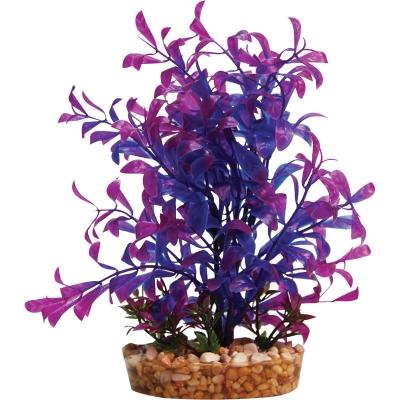 Plastic Plant Blue Hygrophila w/Gravel Base (M)