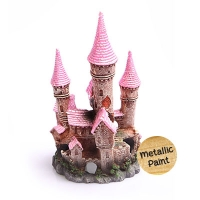 Ruined Underwater Castle Large 12x11x- 21cm (Pink)