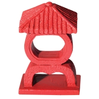 Ornament Red Japanese Shrine Small 7x4x10.2cm