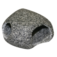 Ornament Cave Round (L) 12.5x12x8cm Granite