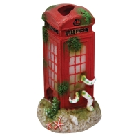 Ornament Telephone Booth 9.8x9.6x17.4