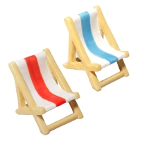 Ornament Beach Lounge chair Blue 5.5x4.3x4.8cm