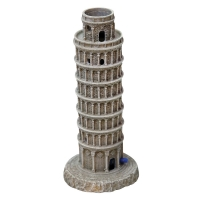 Ornament LED Air Operated Leaning Tower Of Pisa 10.5x10.5x22cm