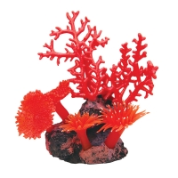 Ornament Copi Coral Red Gorgonian And Anemones 22x12x21cm