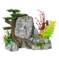 Ornament Stone Head With Bonsai Medium 26x15x19.5cm