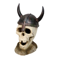 Ornament LED Viking Skull 8x6.9x9.7cm