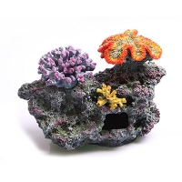 Ornament 3 Corals on Live Rock 35x18.5x25cm