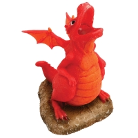Ornament Air Operating Dragon With Light Red/Orange 9.7x9.1x15cm