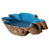 Hermit Crab Tree Stump Bowl Red Large  14x10x3cm