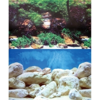 Background 48cm X 15m White Stone/Algae & White Rock Double (fresh/marine)