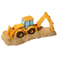 Ornament Backhoe Loader Truck 18.4x8.4x7.8cm