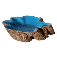 Hermit Crab Tree Stump Bowl Blue Large  14x10x3cm
