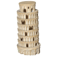 Ornament Leaning Tower 12.2x12.2x30.5cm