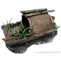 Ornament Japanese Fishing Boat with Plant Large 11x20x9cm