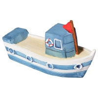 Ornament Fishing Boat 8.9x3.6x5.4cm