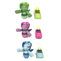 Ornament Kool Cars & Mermaids 2 Styles 3 Colours Set Of 6