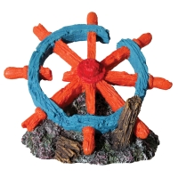 Hermit Crab Ship Wheel 14x10.5x10.5cm