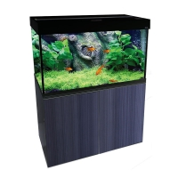 Brilliance 80 Rectangular 180L Aquarium Set (black)