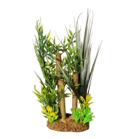 Ornament Bamboo With Leaves Small 20x14x24cm