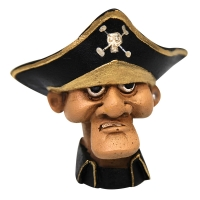 Ornament Captains Head 8x5.5x7.8cm