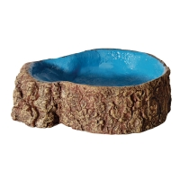 Hermit Crab Tree Stump Bowl Blue Small 10x7.6x3cm