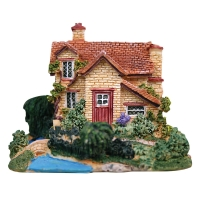 Ornament Mini Modern Cottage 8lx6.5wx6.8cm H