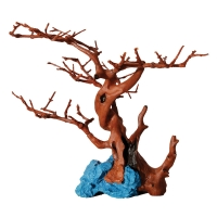Hermit Crab Climbing Branches and Blue Rock 24.5x18x19cm