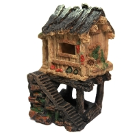 Ornament Hut On Platform (S) 12.3x11.5x18.3cm