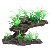 Planter Plants On Sandstone 19.5x7x11cm