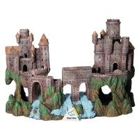 Ornament Medieval Castle With River Large 52x17.5x37cm