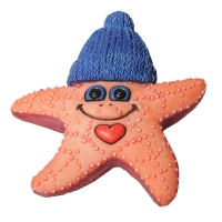 Ornament Starfish 6.4x2.5x6.8cm