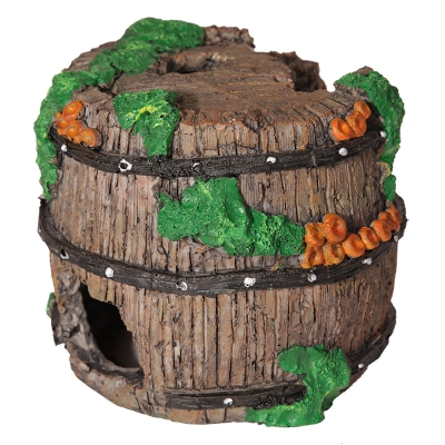 Decaying Wine Barrel with Coral