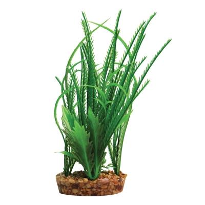 Plastic Plant Hippuris w/Gravel Base (M)