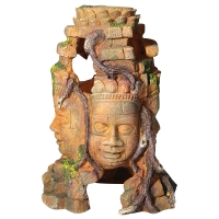 Ornament 4 Faced Aztec Statue Large 12x17.5x26.5cm
