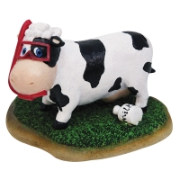 Ornament Cow 10.5x8.9x8cm