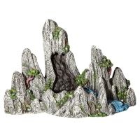 Mountain Waterfall With Plants And Moving Sand 34x14.5x20.5cm (Air Operated)