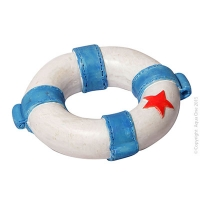 Ornament Lifebuoy Blue 5.6x5.6x1.7cm