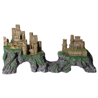 Ornament Castle With Valley Through Middle Extra Large 55.5x17x28.5cm